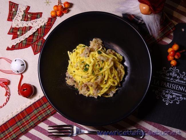 Tajarin gorgonzola e pancetta
