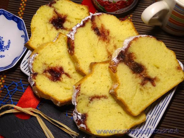 Plumcake con marmellata di amarene