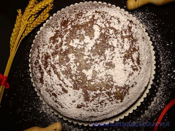 Torta con cacao e banane